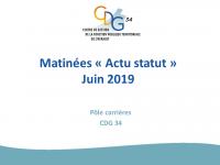 Diaporama actu statut juin 2019