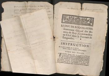 image d'archives d'aspiran sur le confinement en 1720