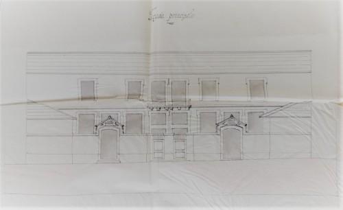 plan de l'école prévue en 1883